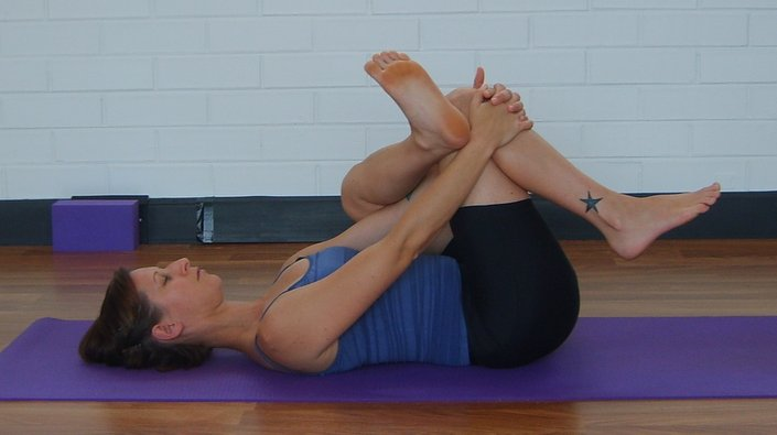 Hip Pretzel Glut Stretch Core Yoga